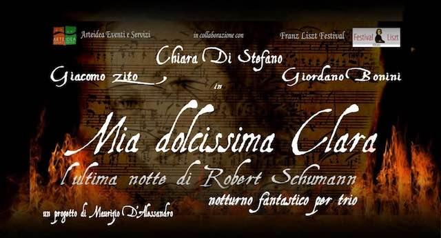 """Al Boni """"Mia dolcissima Clara. L'ultima notte di Robert Schumann"""""""