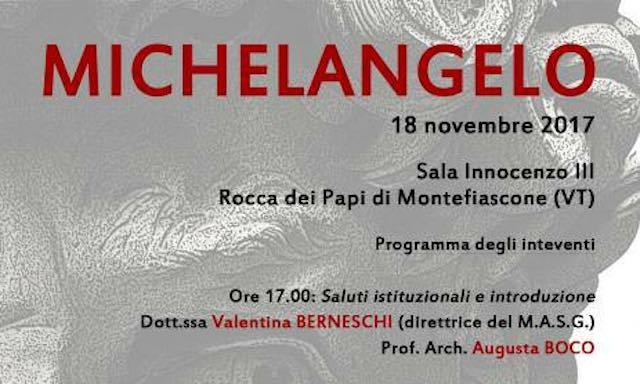 Alla Rocca dei Papi, conferenza sul genio di Michelangelo