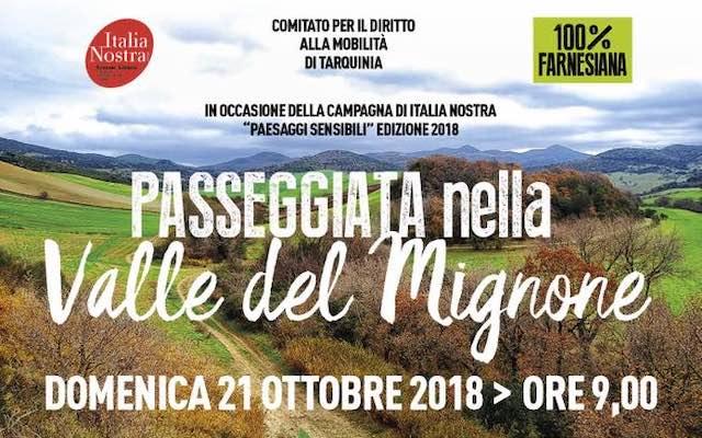 """""""Paesaggi Sensibili 2018"""". In cammino con Italia Nostra a difesa della Valle del Mignone"""