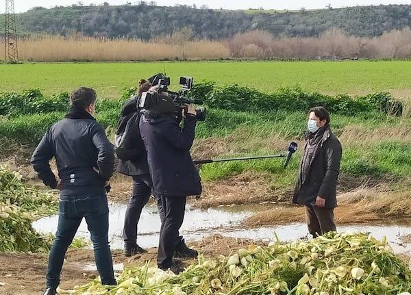 Telecamere Rai alla Valle del Mignone con agricoltori e Università Agraria