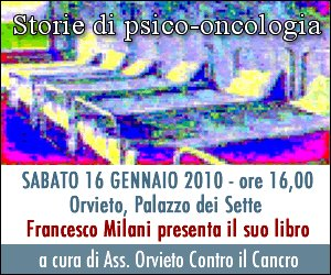 """Presentazione del libro di Francesco Milani: """"Storie di psico-oncologia"""". Sabato 16 gennaio a Palazzo dei Sette"""