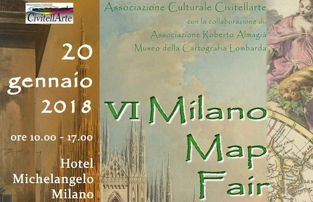 """Cartografia in mostra a """"Milano Map Fair"""" per la sesta edizione curata da Civitellarte"""