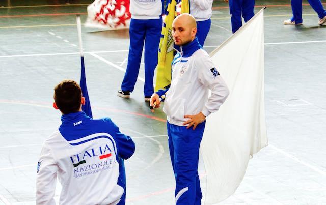 Mirko Grillo pronto al debutto nella Nazionale degli Sbandieratori