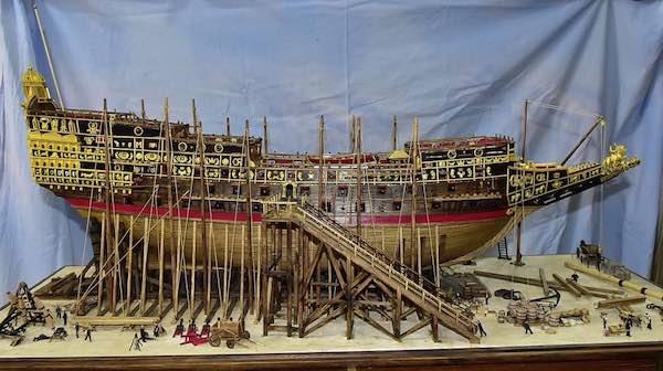 In mostra il modellismo navale di Luigi Volante
