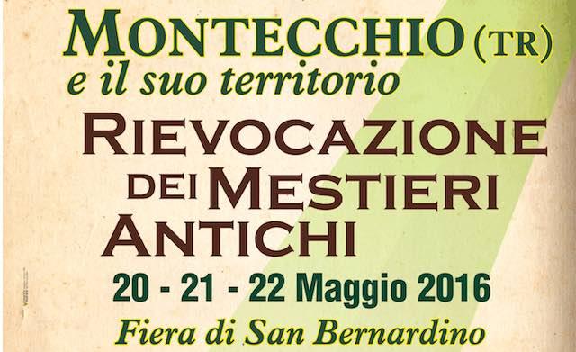 """""""Montecchio e il suo territorio"""". Antichi mestieri nella Festa di S.Bernardino"""