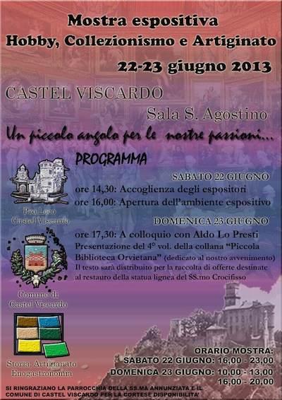 """""""Un piccolo angolo per le nostre passioni"""". A Castel Viscardo, mostra su hobby, collezionismo e artigianato"""