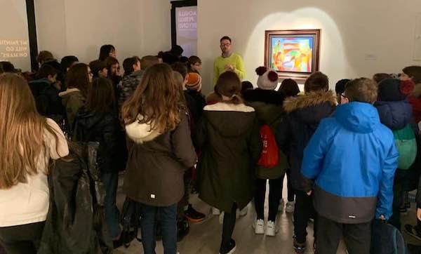 Centinaia di ragazzi delle scuole ospiti di Casa Civita per la mostra di Perilli