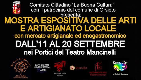 Mostra espositiva delle arti e artigianato locale nei Portici del Teatro Mancinelli