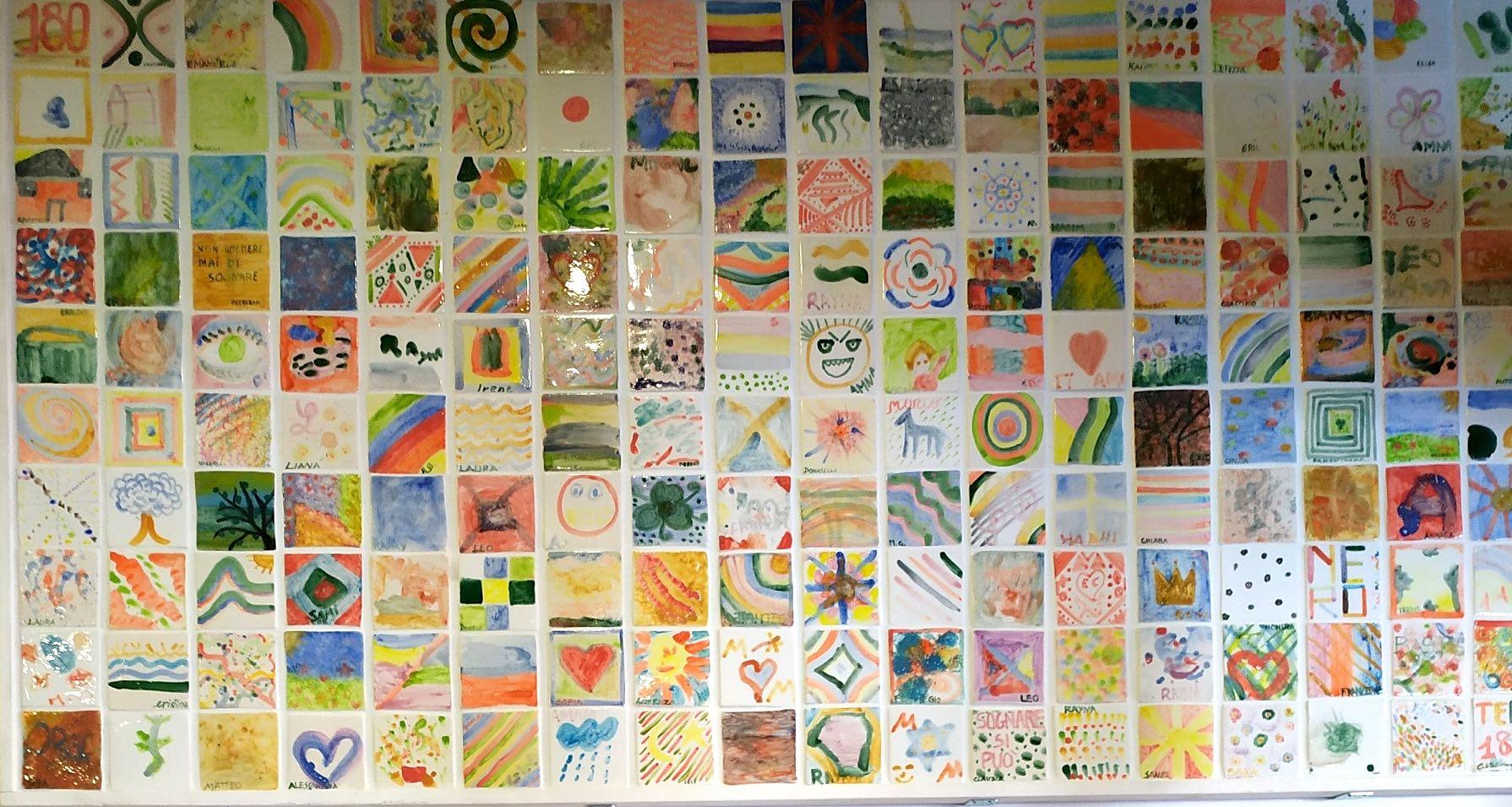 Un mosaico di 180 piastrelle in ceramica per celebrare i 40 anni della Legge Basaglia