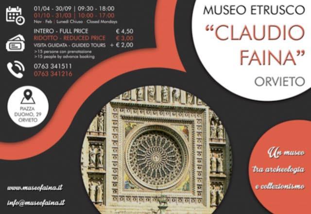 """Nuovo orario e una ricorrenza particolare per il Museo Etrusco """"Claudio Faina"""""""