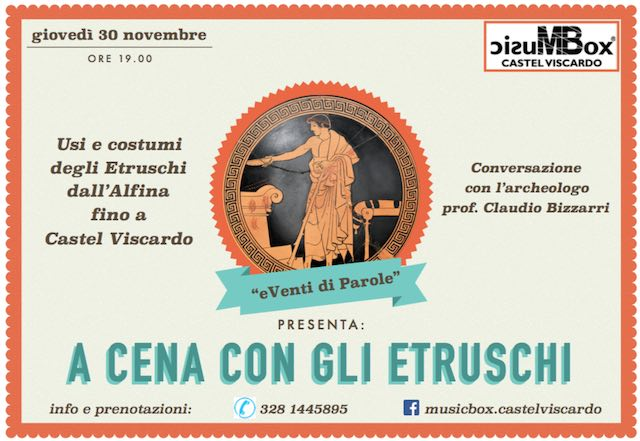 """""""A cena con gli Etruschi"""". Conversazione con l'archeologo Claudio Bizzarri"""