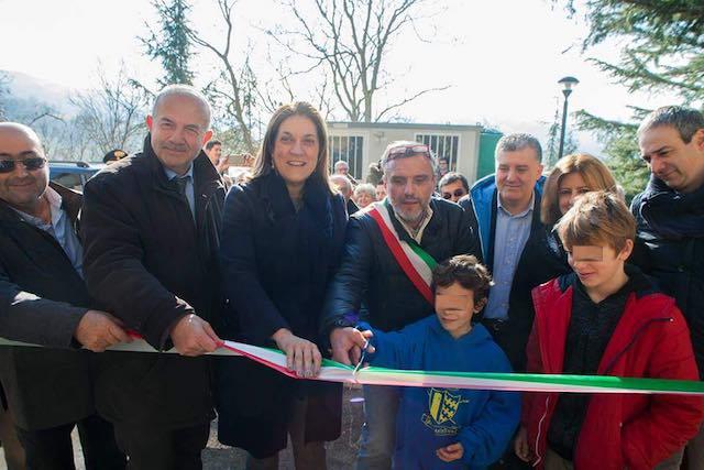 Inaugurati i lavori di Rotecastello, migliorata l'accessibilità al borgo