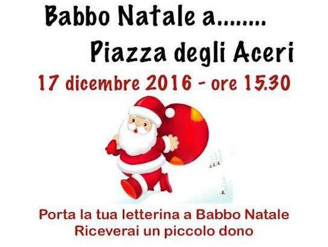 Babbo Natale a Piazza degli Aceri, festa con l'associazione Ciconiaviva