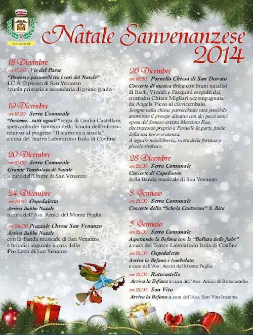 """Tutti gli appuntamenti che animano il """"Natale Sanvenanzese 2014"""""""