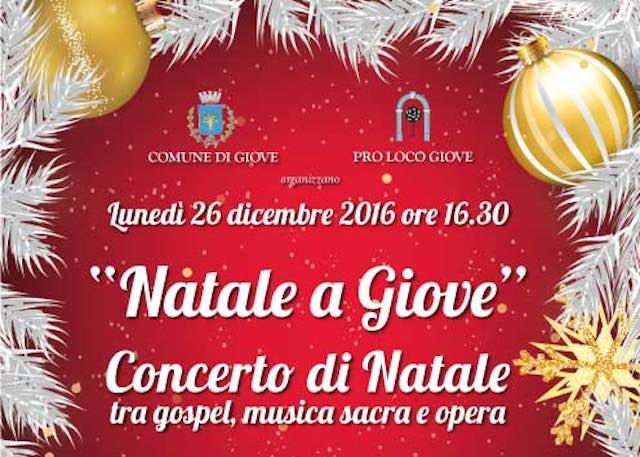 """""""Natale a Giove"""". Concerto tra gospel, musica sacra e opera"""