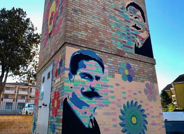 Street art sulla cabina per riscoprire Aldo Netti, l'ingegnere che portò la luce a Orvieto