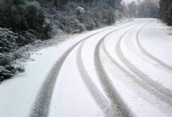 Caduti dai 5 ai 10 centimetri di neve sul Monte Peglia e a Montecchio