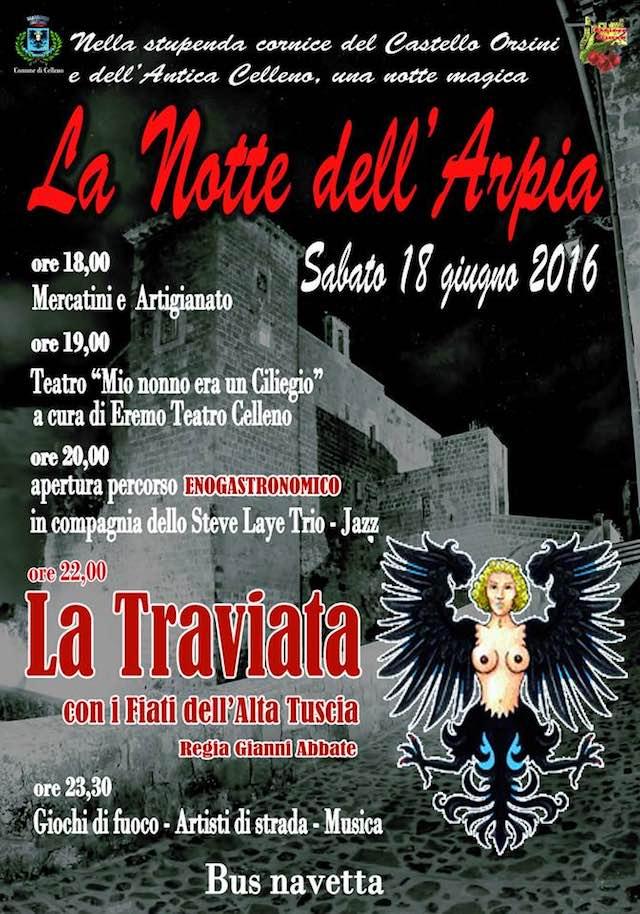 """Nella cornice di Castello Orsini, prima edizione de """"La Notte dell'Arpia"""""""