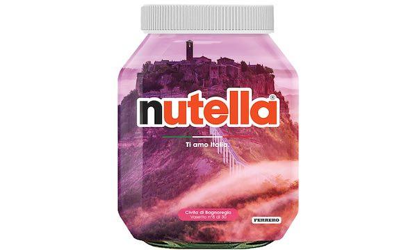 Civita di Bagnoregio scelta per raccontare l'Italia sui vasetti della Nutella