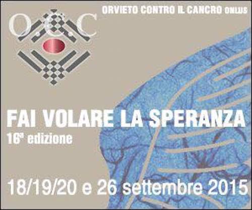 """Torna """"Fai volare la speranza"""". Quattro giorni di iniziative insieme ad """"Orvieto contro il cancro"""""""