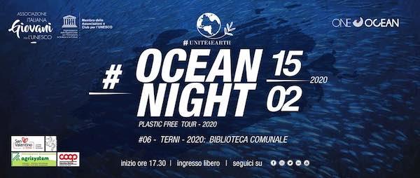 """""""Ocean Night"""". Tappa del tour plastic free alla Biblioteca Comunale"""