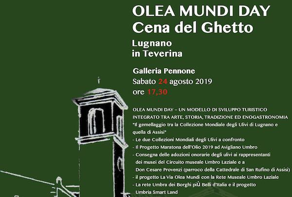 """""""Olea Mundi Day"""" tra arte, storia e tradizione. Torna la Cena del Ghetto"""