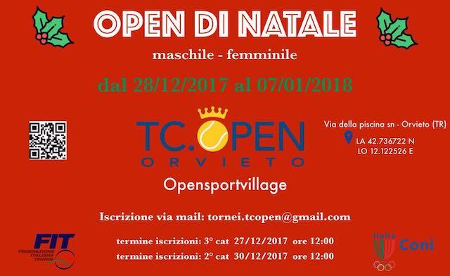 Tc Open, con Bnl e Trofeo di Natale il 2018 inizia col botto