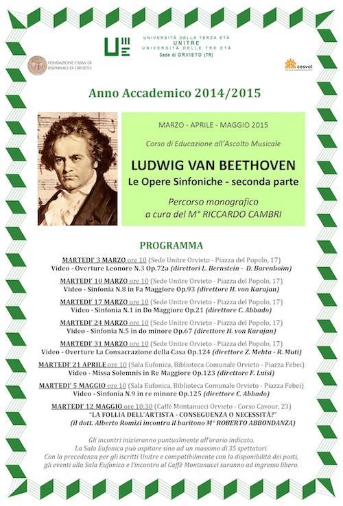 L'Unitre a tutto Beethoven. Cambri cura la rassegna dedicata alla produzione sinfonica
