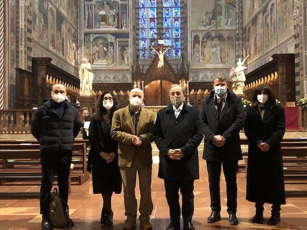 Il Prefetto Michele di Bari in visita all'Opera del Duomo