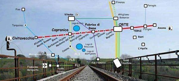 """Comitato Ferrovia dei Due Mari: """"Finalmente la fermata dell'Alta Velocità ad Orte"""""""