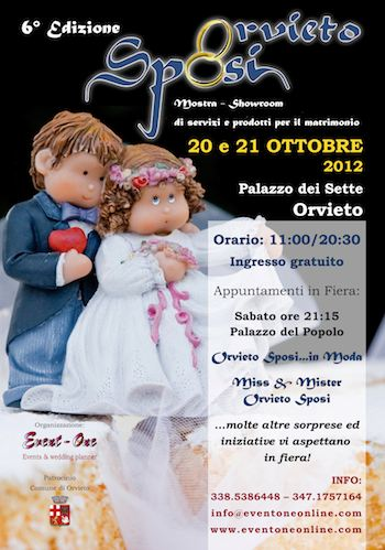 Prossima al via la 6° Edizione di ORVIETO SPOSI: Mostra Showroom di servizi e prodotti per il matrimonio