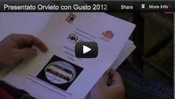 Presentato Orvieto con Gusto 2012