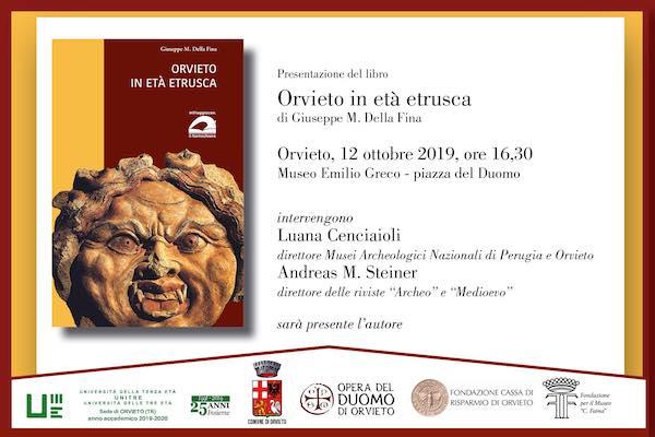 """Giuseppe M. Della Fina presenta il libro """"Orvieto in Età Etrusca"""""""