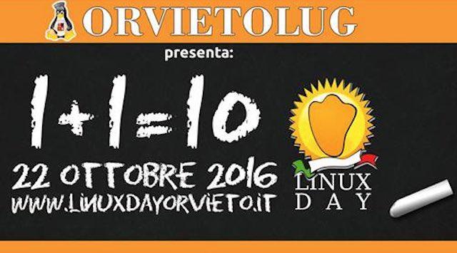 Linux Day 2016. Dodicesima giornata orvietana dedicata al sistema operativo GNU Linux
