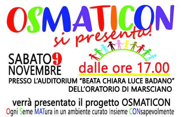 """Osmaticon si presenta!"" all'Auditorium ""Beata Chiara Luce Badano"""