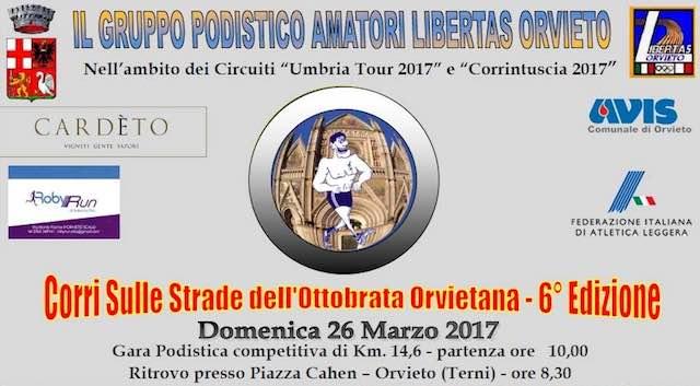 """""""Corri sulle strade dell'Ottobrata Orvietana"""", ai nastri di partenza la sesta edizione"""