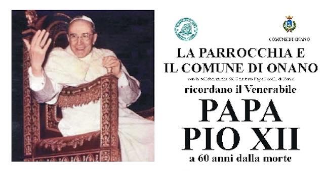 Onano ricorda il 60esimo della morte di Papa Pio XII
