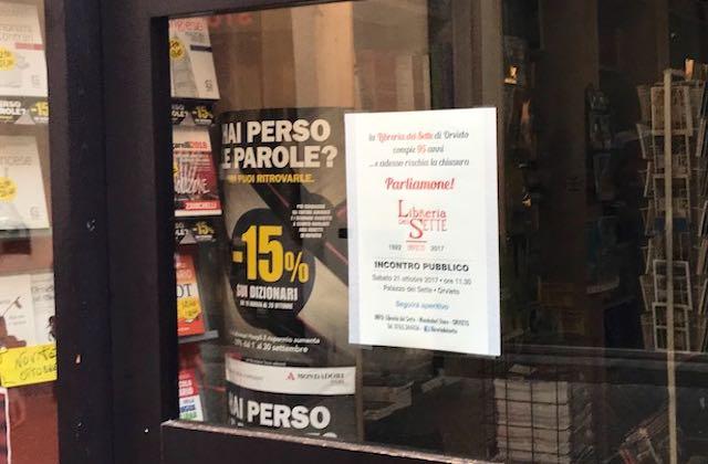 """""""La Libreria dei Sette di Orvieto compie 95 anni...e adesso rischia la chiusura. Parliamone!"""""""