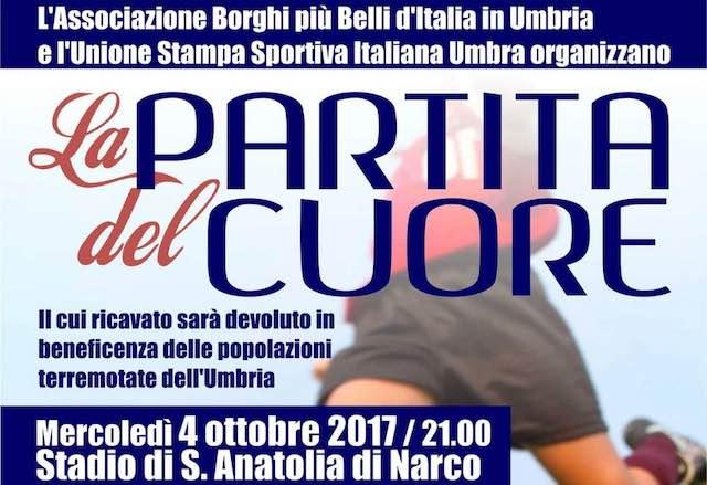 """Dopo """"La Domenica del Borgo"""" arriva """"La Partita del Cuore"""" pro-terremotati"""
