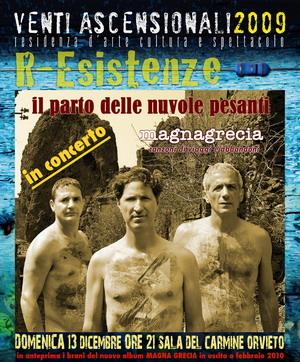 """Il """"Parto delle Nuvole Pesanti"""" in concerto a Orvieto. In anteprima i brani del nuovo album """"magnagrecia"""""""