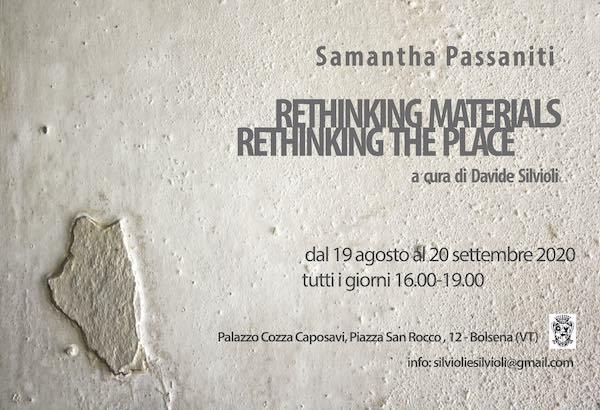 """Rethinking materials, rethinking the place"". Samantha Passaniti a Palazzo Cozza Caposavi"