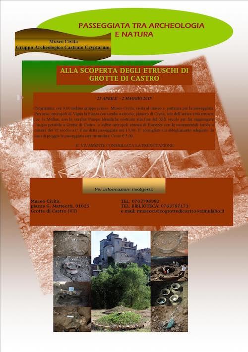 Passegiata degli Etruschi, tra archeologia e natura
