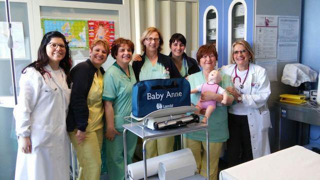 Pediatria, attrezzatture biomedicali in dono dalla famiglia Tiberi