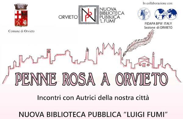 """""""Penne Rosa a Orvieto"""". Primi quattro incontri con le autrici in Biblioteca"""