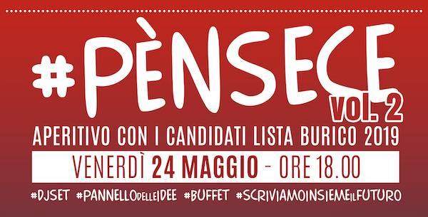 Festa di chiusura della campagna elettorale della coalizione di Matteo Burico