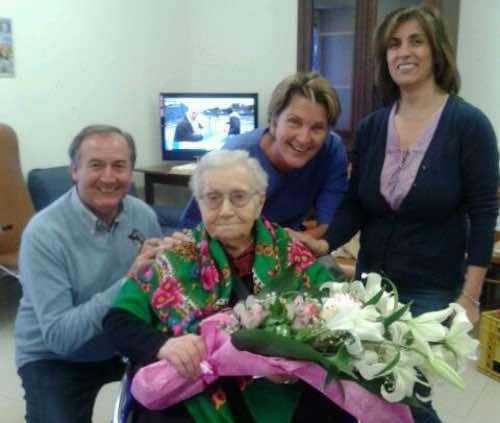 """Pia Micheli festeggia 105 anni alla Casa di Riposo """"San Giuseppe"""""""