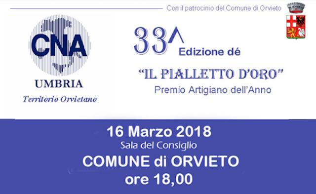 In Comune, la consegna del 33esimo Pialletto d'Oro di CNA Umbria