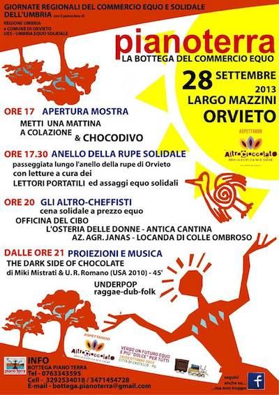 Sabato 28 settembre Bottega del commercio equo e solidale in festa