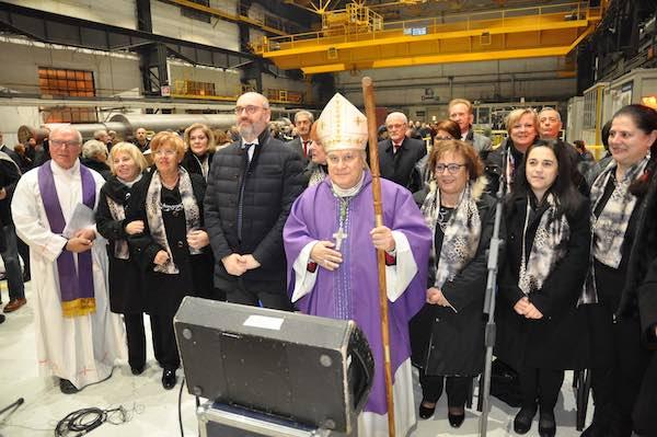 """Messa del vescovo Piemontese alle acciaierie. """"Nella verità ci giochiamo il valore"""""""