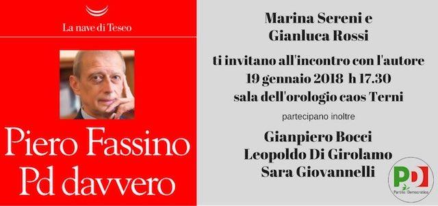 """Piero Fassino presenta il libro """"Pd davvero"""""""